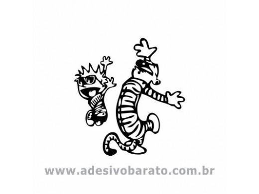 Calvin e Haroldo Agitando