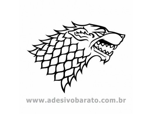 Brasão Stark - Game of Thrones